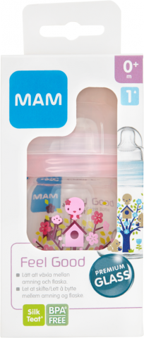 MAM Feel Good sutteflaske, 170 ml, pink